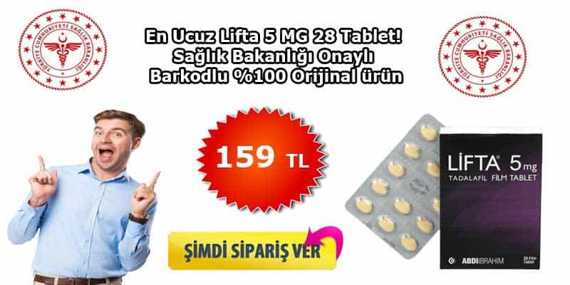 lifta 5 mg 28 film kaplı tablet fiyatı